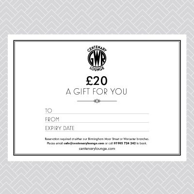 Centenary Lounge Gift Voucher