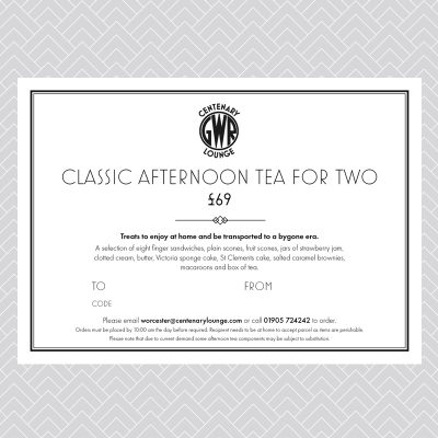 Classic Afternoon Tea for Two Voucher (delivery option)