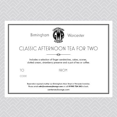 Classic Afternoon Tea for Two Voucher