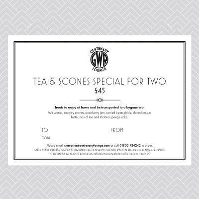 Tea & Scones Special for Two Voucher (delivery option)